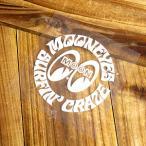 ムーンアイズ ステッカー 車 アメリカン おしゃれ バイク かっこいい ホットロッド MOONEYES 転写式 サーフクレイズ ホワイト メール便OK_SC-DM138WH-MON