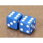 エアバルブキャップ ダイス(サイコロ) 2個セット ブルー メール便OK_AC-AA111BL-MON