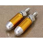 ナンバープレートボルト(ライセンスボルト)2個セット/バレット(弾丸)/ゴールド メール便OK_NB-AA113BUGO-MON