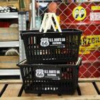 ルート66(ROUTE66) バスケット 収納 かご プラスチック おしゃれ マーケットバスケット 買い物かご CDケース 小物入れ サイズS 2個セット_SB-002S2P-SHO