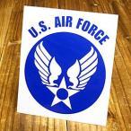 ステッカー 車 ミリタリー US AIR FORCE アメリカ空軍 世田谷ベース アメリカン おしゃれ バイク かっこいい 転写 A ブルー L メール便OK_SC-AF002BL-TST