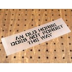 アメリカンミリタリーステンシル転写ステッカー 「老いたる馬は道を忘れず」 メール便OK_SC-PST026-SXW