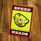 ステッカー 車 アメリカン おしゃれ バイク ヘルメット スケートボード スノーボード かっこいい SPEEDNUTS 悪魔 デビル SPEED HEADS メール便OK_SC-SPD007-SXW