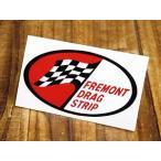 ステッカー 車 アメリカン おしゃれ バイク ヘルメット かっこいい 復刻 FREMONT DRAG STRIP メール便OK_SC-DZ319-MON