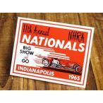 ステッカー 車 アメリカン おしゃれ バイク ヘルメット かっこいい 復刻 NHRA 全米ホットロッド協会 NATIONALS 1965 INDIANAPOLIS メール便OK_SC-DZ288-MON