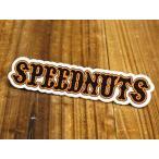 ステッカー 車 アメリカン おしゃれ バイク ヘルメット スケートボード スノーボード かっこいい スピードナッツ SPEEDNUTS パロディ メール便OK_SC-SPD030-SXW