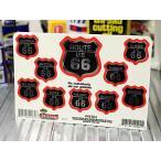 ステッカーセット アメリカン 車 バイク ルート66 ROUTE66 かっこいい ロードサイン 10枚セット ブラック メール便OK_SC-44264-HYS