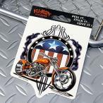 ステッカー 車 アメリカン おしゃれ バイク かっこいい チョッパー ピンストライプ YUJEAN メール便OK_SC-AD555-HYS