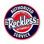ステッカー アメリカン 車 バイク アウトドア おしゃれ かっこいい 面白い パロディ ビュイック アメ車 GM BADASS STICKER SUPPLY メール便OK_SC-BSS061-RGH - 626 円