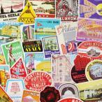ステッカー スーツケース アメリカン 旅行カバン トラベルステッカー ラゲージラベル レトロ Luggage Labels OLD HOTEL LABELS 50枚セット_SC-C176LB-DLT