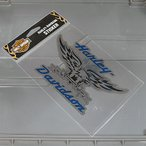 ステッカー バイク ハーレーダビッドソン アメリカン おしゃれ 車 ヘルメット かっこいい シルバーイーグル メール便OK_SC-HDS413-FNM