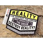 ステッカー 車 アメリカン 世田谷ベース かっこいい 「現実は夢を壊す時がある...」 サイズL メール便OK_SC-MOT001L-SXW