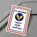 ステッカー アメリカ空軍 U.S.エアフォース 車 バイク アメリカン かっこいい ミリタリー 世田谷ベース CAREERS メール便OK_SC-MS053-FEE