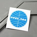 ステッカー パンナム PAN AM バイク 車 アメリカン かっこいい 航空会社 パンアメリカン航空 メール便OK_SC-MS059-FEE