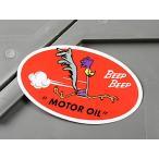 ロードランナー ステッカー ルーニー・テューンズ 車 バイク アメリカン かっこいい MOTOR OIL メール便OK_SC-MS068-FEE