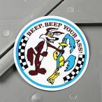 ロードランナー ステッカー ルーニー・テューンズ 車 バイク アメリカン かっこいい YOUR ASS! メール便OK_SC-MS083-FEE
