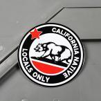 ショッピングステッカー ステッカー カリフォルニア 車 アメリカン かっこいい 熊 メール便OK_SC-MS117-FEE
