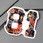 ステッカー オイルショックデザインズ 車 バイク アメリカン かっこいい サーフィン ハワイ フラワー 花 81 メール便OK_SC-OSS033-ACT