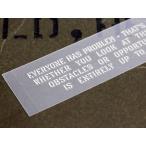 アメリカンミリタリーステンシル転写ステッカー 「障害と見るかチャンスと見るかで人生は違ってくる」 メール便OK_SC-PST052-SXW