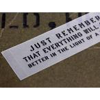 アメリカンミリタリーステンシル転写ステッカー 「明日になればどんなことも大丈夫だって思えるよ」 メール便OK_SC-PST053-SXW