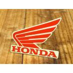 ステッカー ホンダ 車 アメリカン おしゃれ バイク ヘルメット かっこいい HONDA ウイング レッド 左向き メール便OK_SC-R318-TMS
