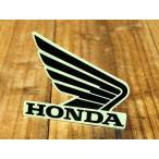 ステッカー ホンダ 車 アメリカン おしゃれ バイク ヘルメット かっこいい HONDA ウイング ブラック 右向き メール便OK_SC-R340-TMS