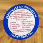 ステッカー 車 アメリカン おしゃれ バイク ヘルメット かっこいい オイル 点検証 整備 車検 INSPECTION 裏貼り ブルー メール便OK_SC-010-FEE