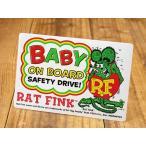 ラットフィンク ステッカー BABY IN CAR 車 アメリカン キャラクター おしゃれ かっこいい ホットロッド 赤ちゃん 乗ってます メール便OK_SC-RDF044-MON