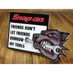 スナップオン ステッカー 車 アメリカン おしゃれ バイク かっこいい レンチ ツール 工具 Snap-on FRIENDS DON'T BORROW MY TOOLS メール便OK_SC-SN012-FNM
