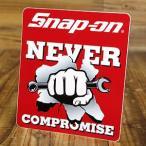 スナップオン ステッカー 車 アメリカン おしゃれ バイク ヘルメット かっこいい レンチ ツール 工具 Snap-on NEVER COMPROMISE メール便OK_SC-SN019-FNM