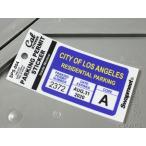 パーキングパーミットステッカー 車 アメリカン 駐車許可 パロディ カリフォルニア 裏貼り PARKING PERMIT STICKER ロサンゼルス市 メール便OK_SC-SPS004-HBT