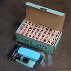 ステンシルアルファベットスタンプ 42Pセット 専用インキ付き サイズM_SL-001-FEE