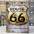 アメリカンインテリアプレート ルート66(ROUTE66) FEEL THE FREEDOM A サイズM_SP-Z5349-2-FEE