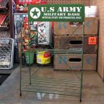 ミリタリーワイヤーラック U.S.アーミー(アメリカ陸軍)_SR-050-FEE