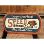 クレイスミス ワッペン Clay Smith SPEED SHOP [アイロン/アメリカ] メール便OK_WP-CSYC132-MON
