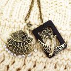 2着で5千円さらに送料無料ネックレスアンティークゴールド孔雀姫とつばめ王子童話シリーズ小鳥ピーコックツバメ