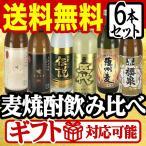 焼酎セット 麦焼酎 飲み比べセット 厳選 九州麦焼酎 6