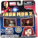 マーベル Iron Man 2 Movie Minimates Figure James Rhodes in Mark II Armor & Black Widow