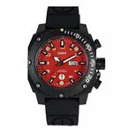 Yahoo!プラチナセレクトメンズ腕時計 DAGGER men's QQRB Analog swiss quartz watches with both leather and rubber strap and LED lights  正規輸入品