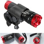 キャンプ用品 1 Set Imposing Unique Bike Lights LED Flashlight 3 Modes 240 Lumens Bicycle Night Light Lighter Coast Bright Brightest Zoomable Camping