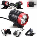 キャンプ用品 1 Set Amazing Unique Bike Lights 3x LED Flashlight 4 Mode 6000 Lumen Night Light Coast Bright Brightest Waterproof Camping Tactical