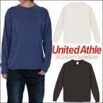 長袖Tシャツ ロンT メンズ 無地 Tシャツ UNITED ATHLE メンズ ヴィンテージカラー Tシャツ ホワイト 白 ブラック 黒 ネイビーデニム
