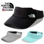 THE NORTH FACE ノースフェイス サンバイザー キャップ ストラップバック おしゃれ ロゴ カジュアル ブルー 帽子  ブラック 黒 グリーン グレー
