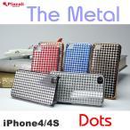 ショッピングiphone4 iPhone4s ケースメタル iphone4メタルケース iphone4メタルカバー Dot iphone iPhone4s アイフォン4カバー スマホ メタル