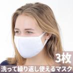 マスク 布マスク 洗えるマスク 立体マスク 花粉症 白 ホワイト 3枚組セット 活性炭入り 風邪予防 PM2.5