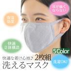 マスク 布マスク 洗える おしゃれ 立体マスク 花粉症 2枚組 3カラー 活性炭入 り 風邪 インフルエンザ PM2.5