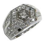 ダイヤモンド リング メンズ ダイヤモンドリング 印台 指輪 男性 プレゼント ポイント消化