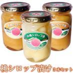 黄桃 白桃 シロップ漬け 3本セット 山梨 桃 無添加 ギフト 280g