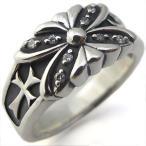 メンズ リング クロス リング シルバー バタフライ 指輪