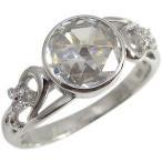 プラチナ キュービックジルコニア リング 大粒 リング 指輪